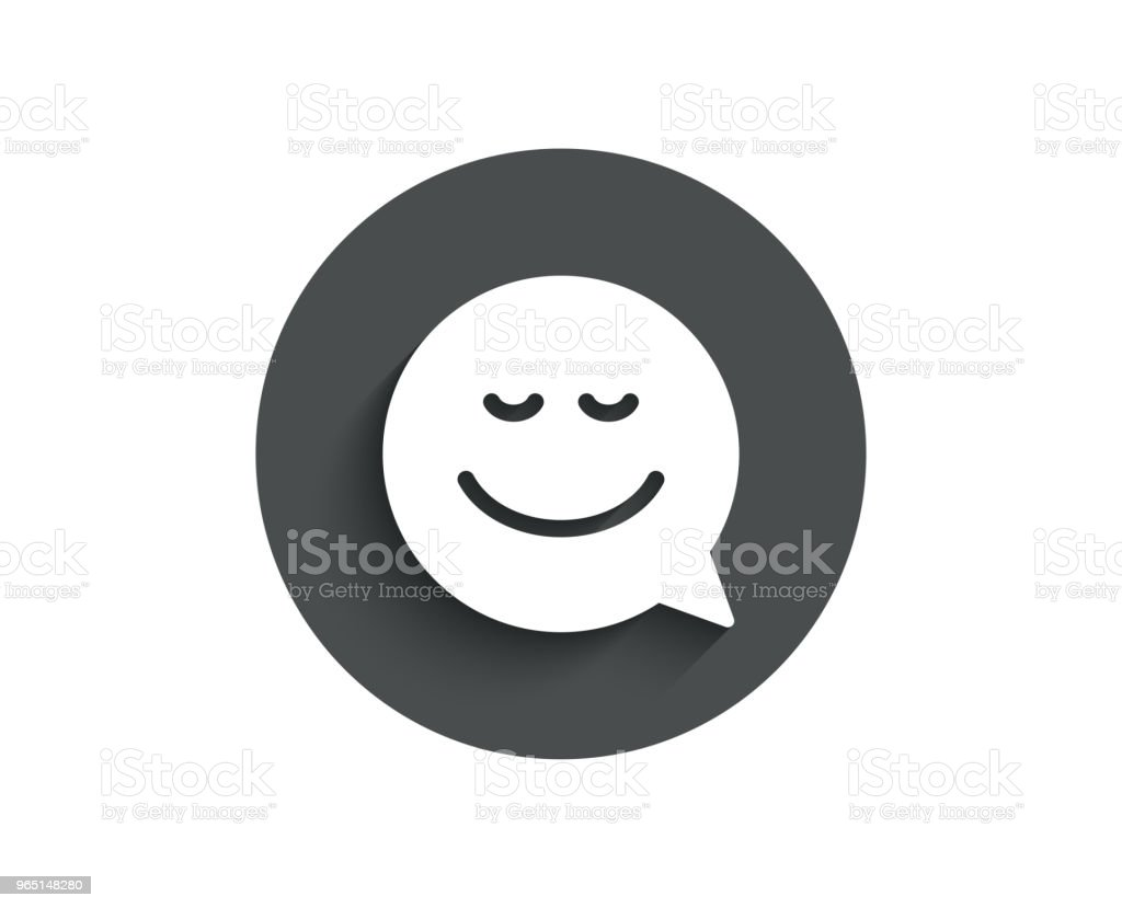 Comic speech bubble with Smile simple icon. royalty-free comic speech bubble with smile simple icon stock vector art & more images of bubble