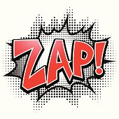 Comic speech bubble, Zap, isolate vector illustration