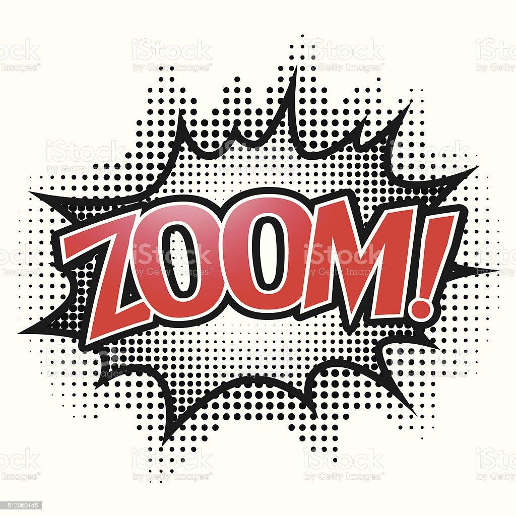 Comic speech bubble, Zoom, isolate vector illustration vector art illustration