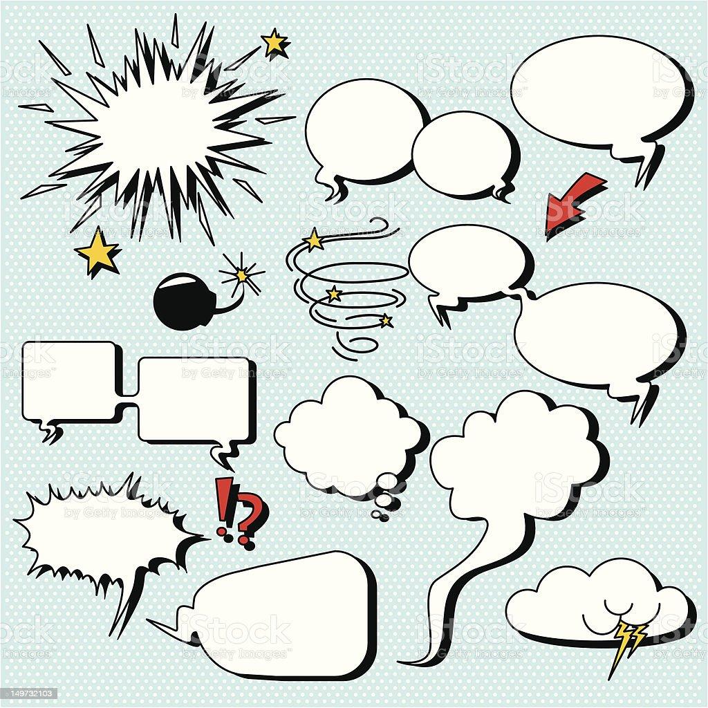 Comic speech bubbles royalty-free comic speech bubbles stock vector art & more images of arrow symbol