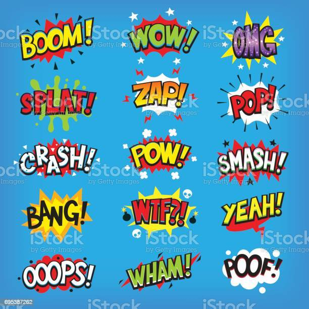 Comic speech clouds with sound effects vector id695387262?b=1&k=6&m=695387262&s=612x612&h=thylqfm5pj0nhzcyfijwck8wgfutu2th6pcw3toylmy=