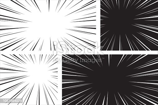 Comic speed radial background set