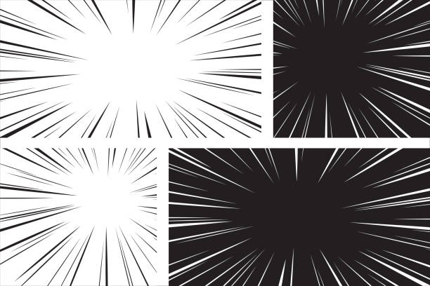 Comic speed radial background set Comic speed radial background set photographic effects stock illustrations