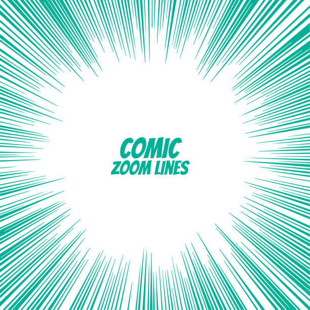 comic speed zoom lines background comic speed zoom lines background zoom effect stock illustrations
