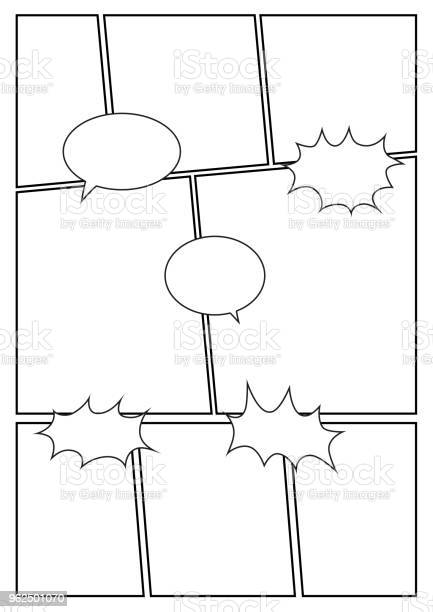 Vetores de Grades De Layout 8 Storyboard Em Quadrinhos e mais imagens de Caderno de Esboços