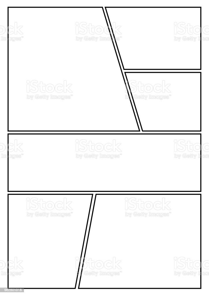 comic storyboard styles with 6 grids - Royalty-free Angle stock vector