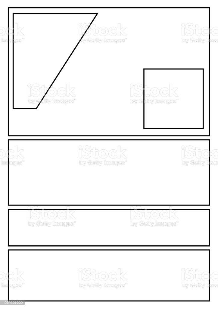 estilos de quadrinhos storyboard com 7 eixos - Vetor de Caderno de Esboços royalty-free