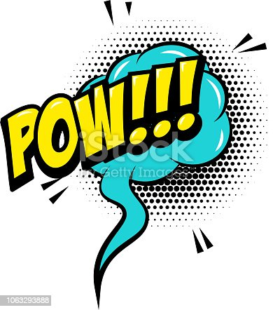 POW!!! Comic style phrase with speech bubble. Vector illustration