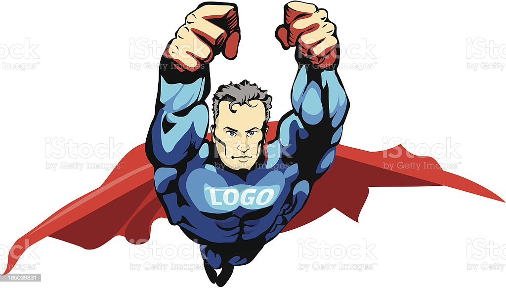 comic super Hero vector royalty-free stock vector art