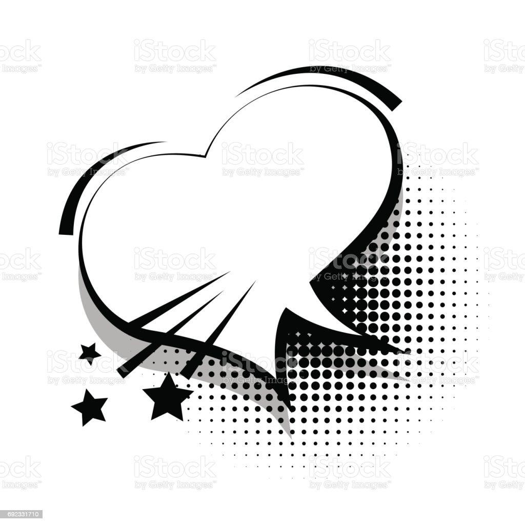 漫画テキスト テンプレート i love youのベクターアート素材や画像を