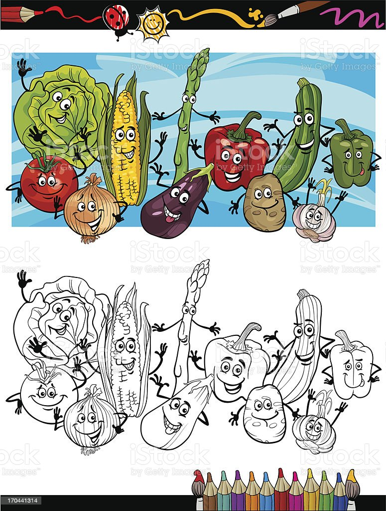 Coloriage Paprika Dessin Anime.Legumes De La Bande Dessinee Dessin Anime Livre A Colorier
