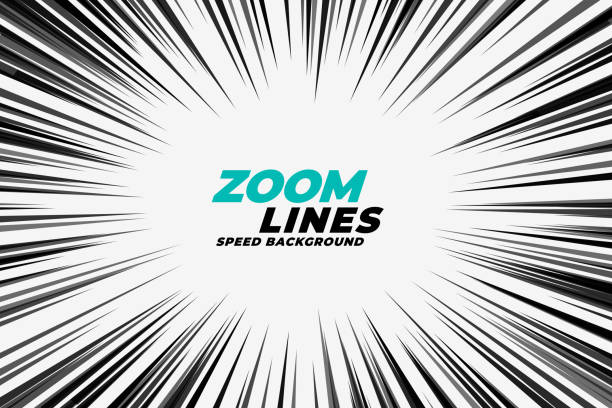 comic zoom lines motion background comic zoom lines motion background zoom effect stock illustrations