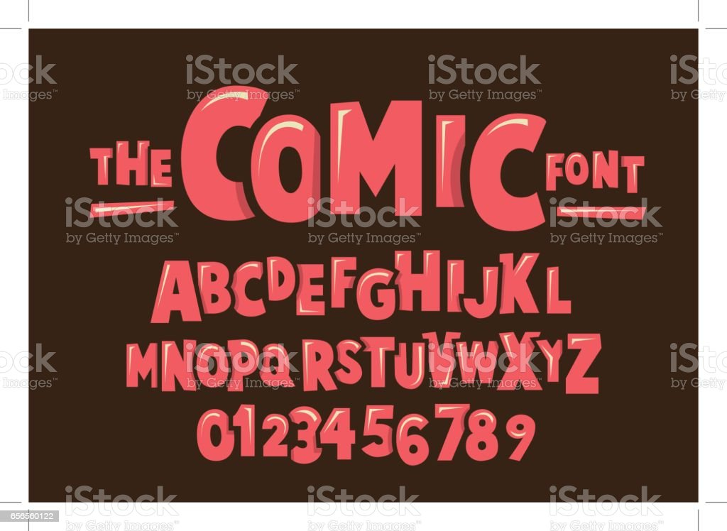 Comical alphabet vector art illustration