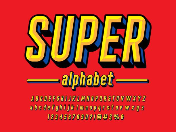 comic-schriftart - comic font stock-grafiken, -clipart, -cartoons und -symbole