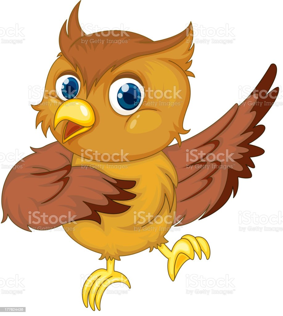 Comical owl royalty-free stock vector art