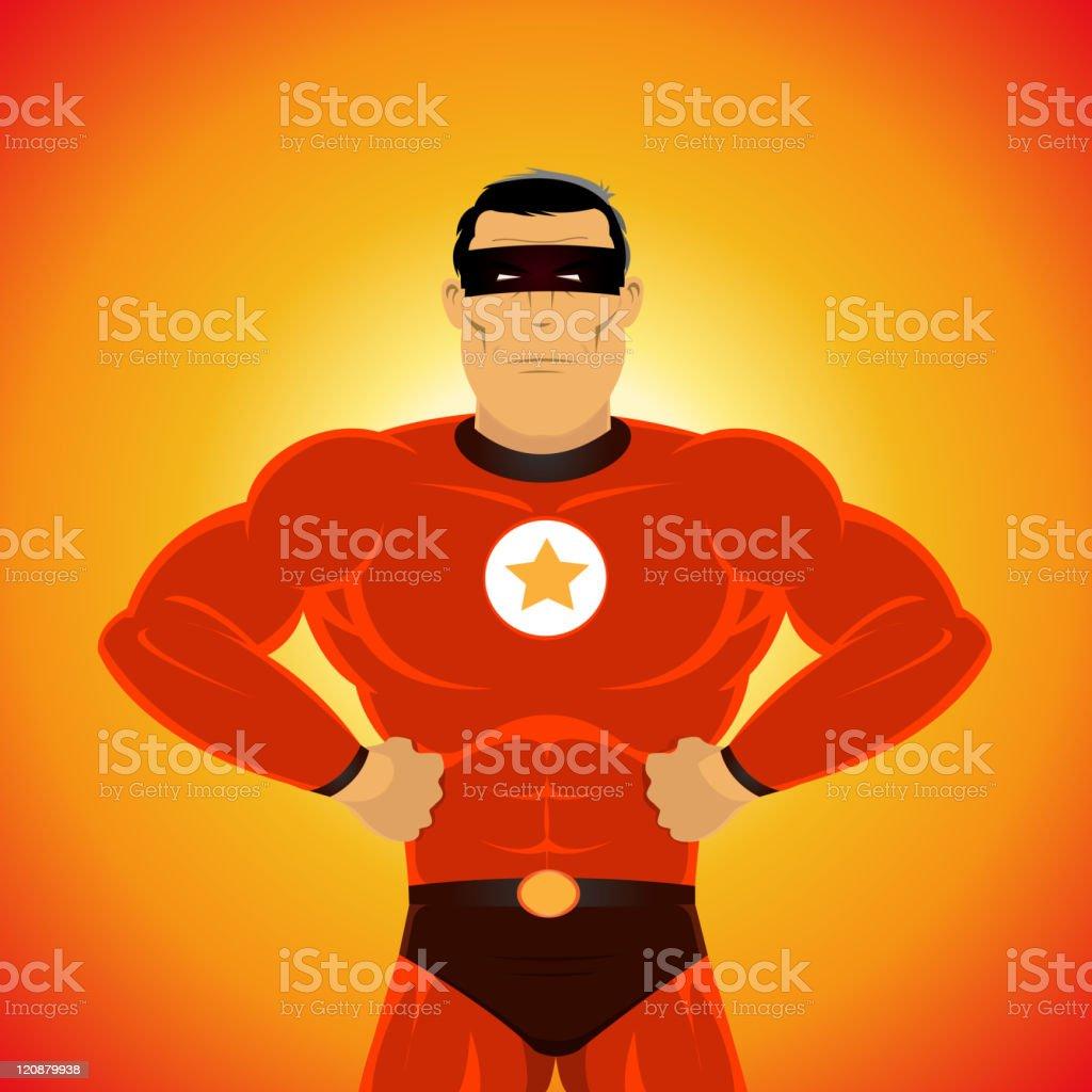 Comic-like Super-Hero royalty-free stock vector art