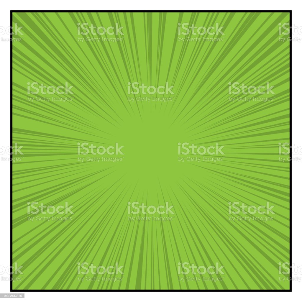 Comics Color Radial Speed Lines graphic effects. Vector vector art illustration