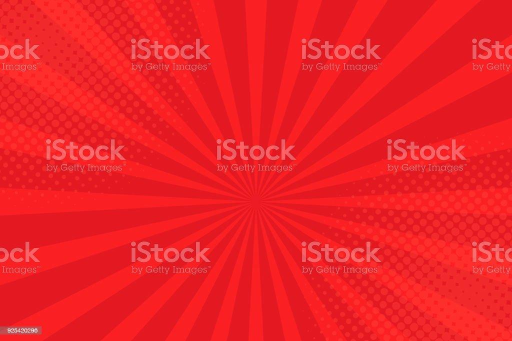 Comics rays background with halftones. Vector summer backdrop illustrations vector art illustration