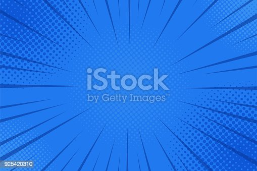 istock Comics rays background with halftones. Vector summer backdrop illustrations 925420310