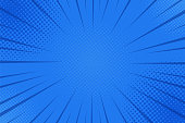 Comics rays background with halftones. Vector summer backdrop illustrations