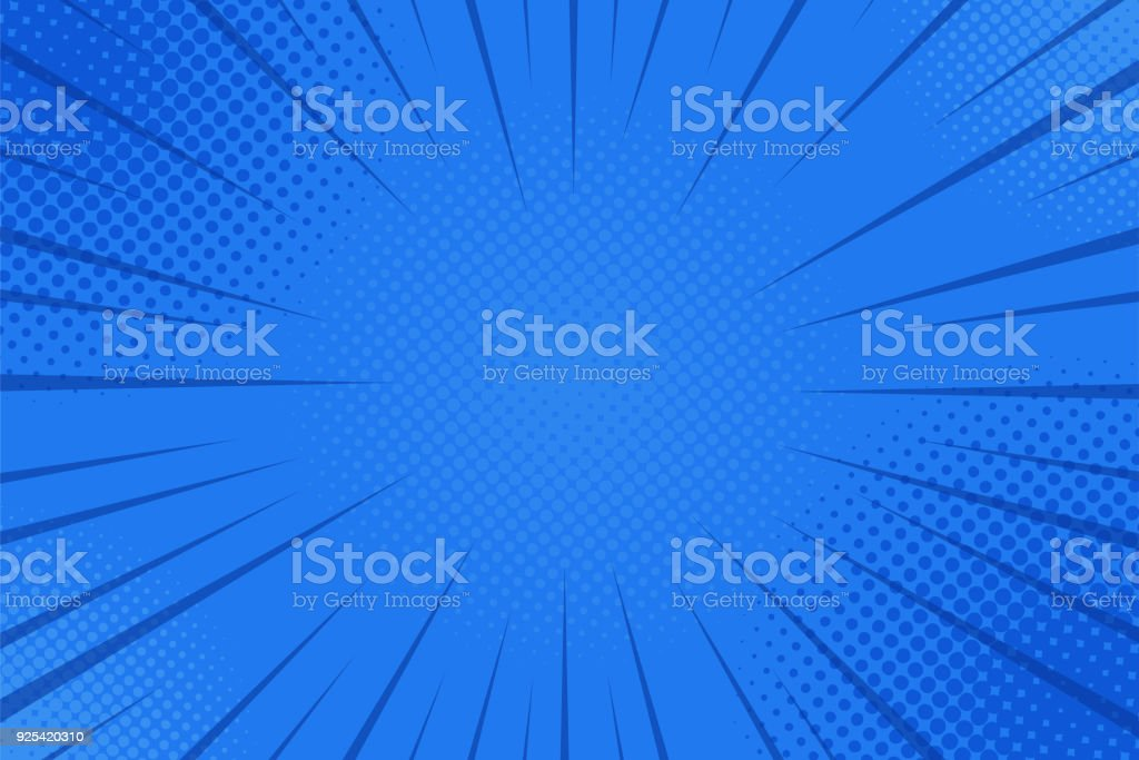 Comics rays background with halftones. Vector summer backdrop illustrations vector art illustration