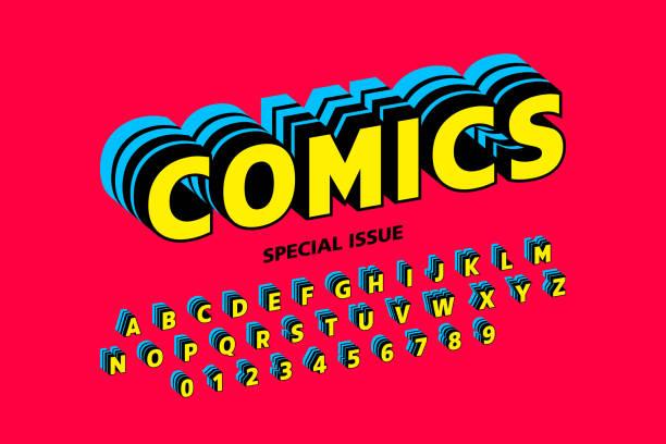 Design de polices de style bande dessinée - Illustration vectorielle