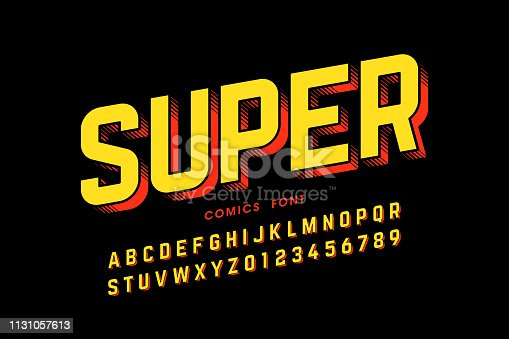 istock Comics style font 1131057613