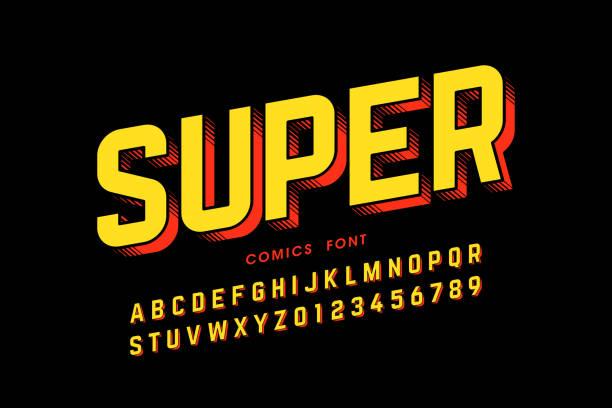 Comics style font vector art illustration