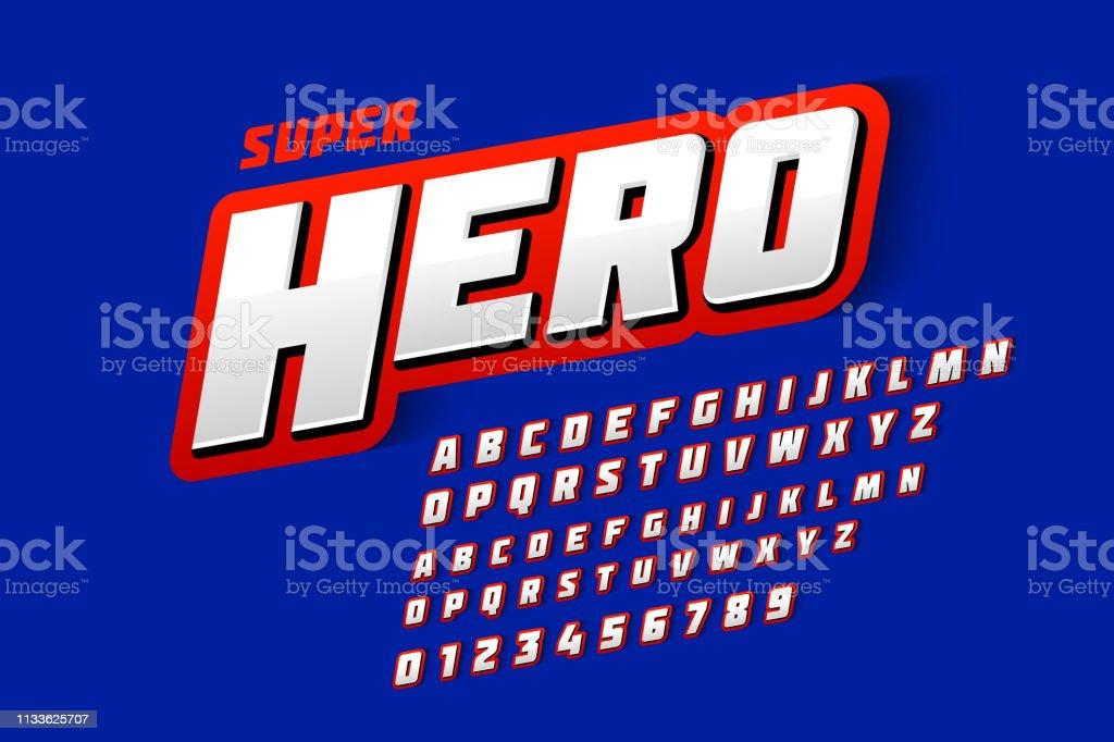 Comics style font comics style font - immagini vettoriali stock e altre immagini di alfabeto royalty-free