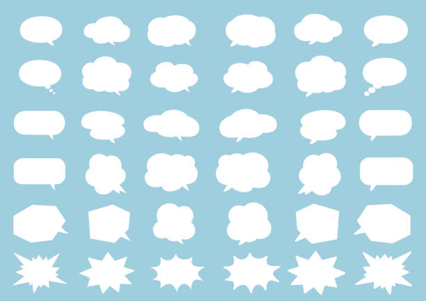 Comics style speech bubbles. icons set Vector EPS10 backgrounds clipart stock illustrations