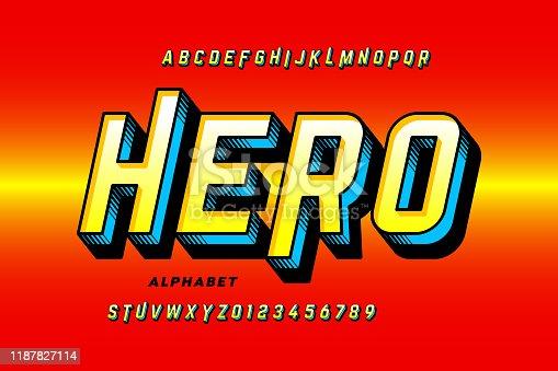 istock Comics style super hero font 1187827114