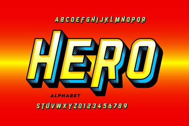 illustrations, cliparts, dessins animés et icônes de comics style super hero police - super héros