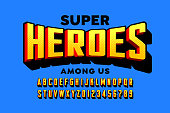 istock Comics super hero style font 1220766902