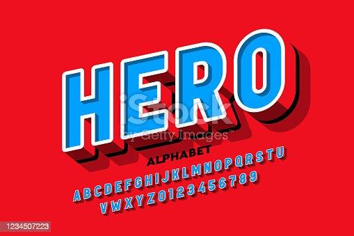 istock Comics superhero style font 1234507223