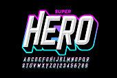 istock Comics superhero style font 1254180275