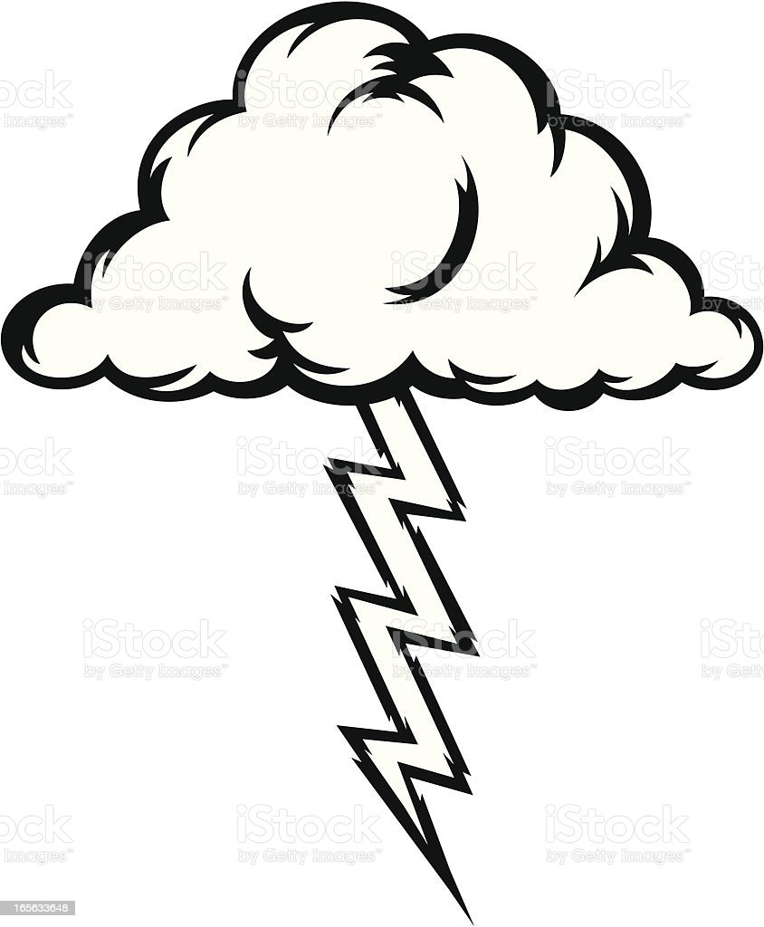 royalty free cartoon of the black and white lightning bolt clip art rh istockphoto com