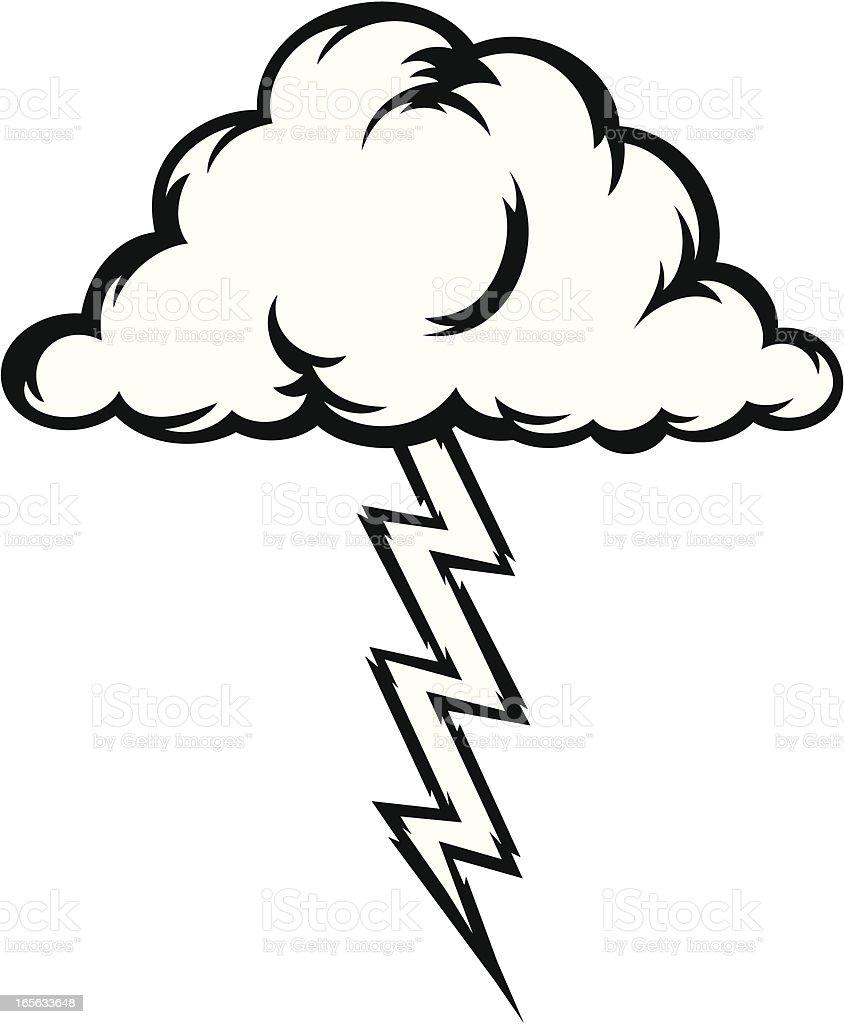 royalty free cartoon of the black and white lightning bolt clip art rh istockphoto com lightning clipart black and white