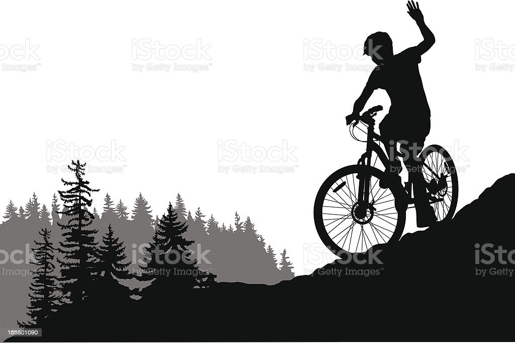 Comin' Down Vector Silhouette royalty-free stock vector art