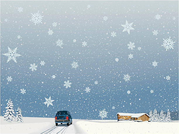 stockillustraties, clipart, cartoons en iconen met coming home for the holidays - family winter holiday