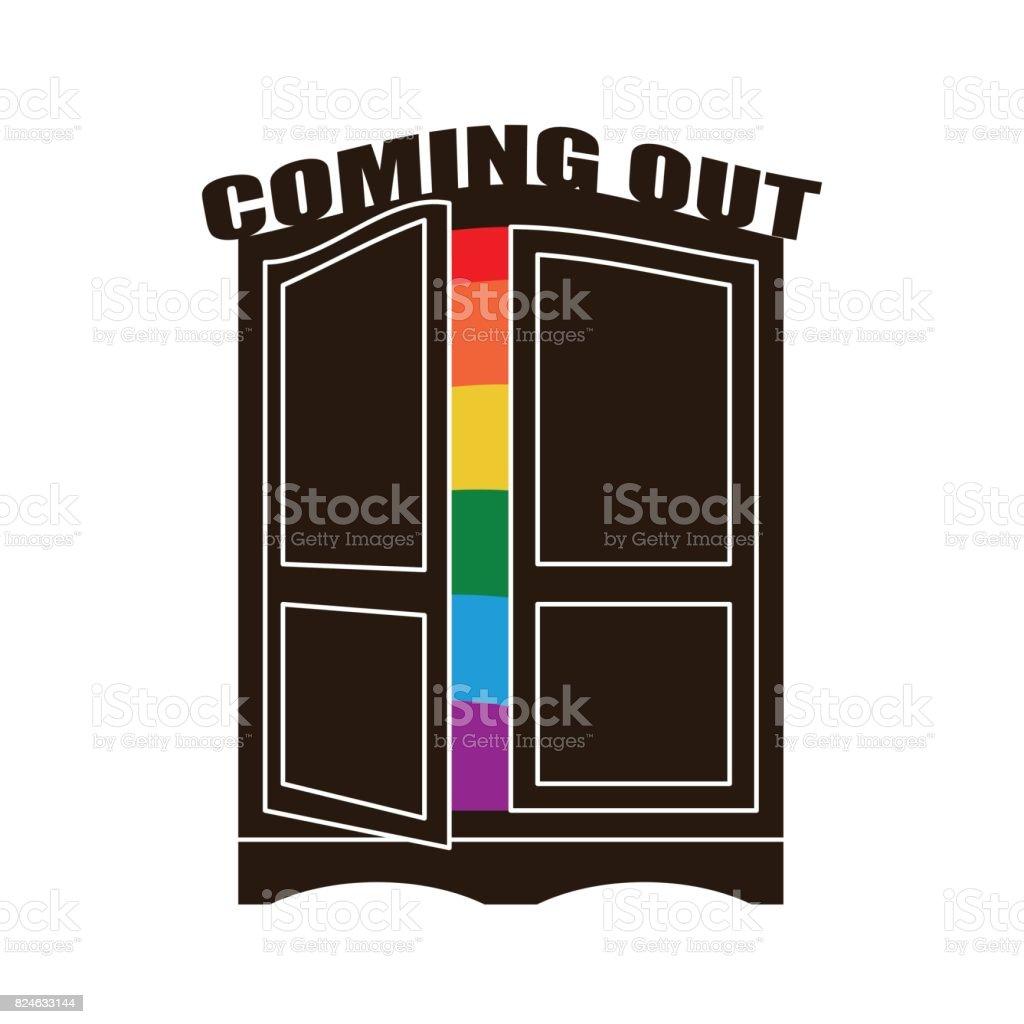 Du Sortir Lgbt Venir Et La Meubles À Vecteurs Gay Porte Libres Droits Garderobe De Placard Larmoire Ouvrez Symbole Reconnaissance Plus rQCxdtshBo