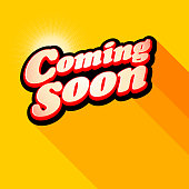 Vector illustration of Coming soon on banner design with color background. EPS Ai 10 file format.