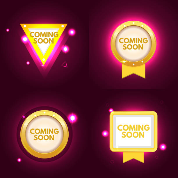 Coming soon banner set - Illustration vectorielle