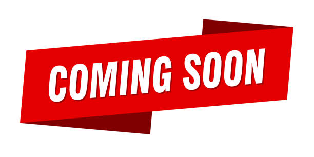 coming soon banner template. coming soon ribbon label sign vector art illustration