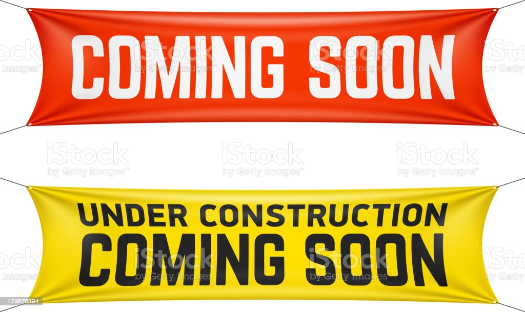 Coming soon banner vector art illustration