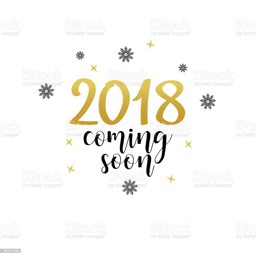 2018 Bientôt Imprimer De Vecteur De Vacances De Noël Noir