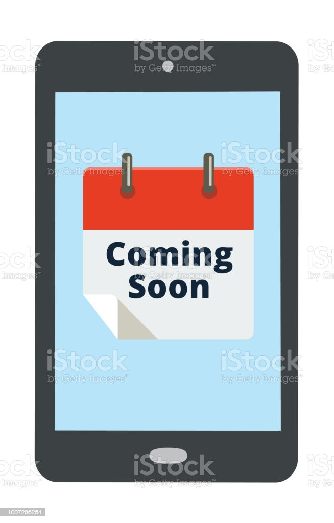 Coming Soon Calendario.Coming Soon Reminder On Mobile Phone Arte Vetorial De