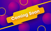 Coming soon sign illustration