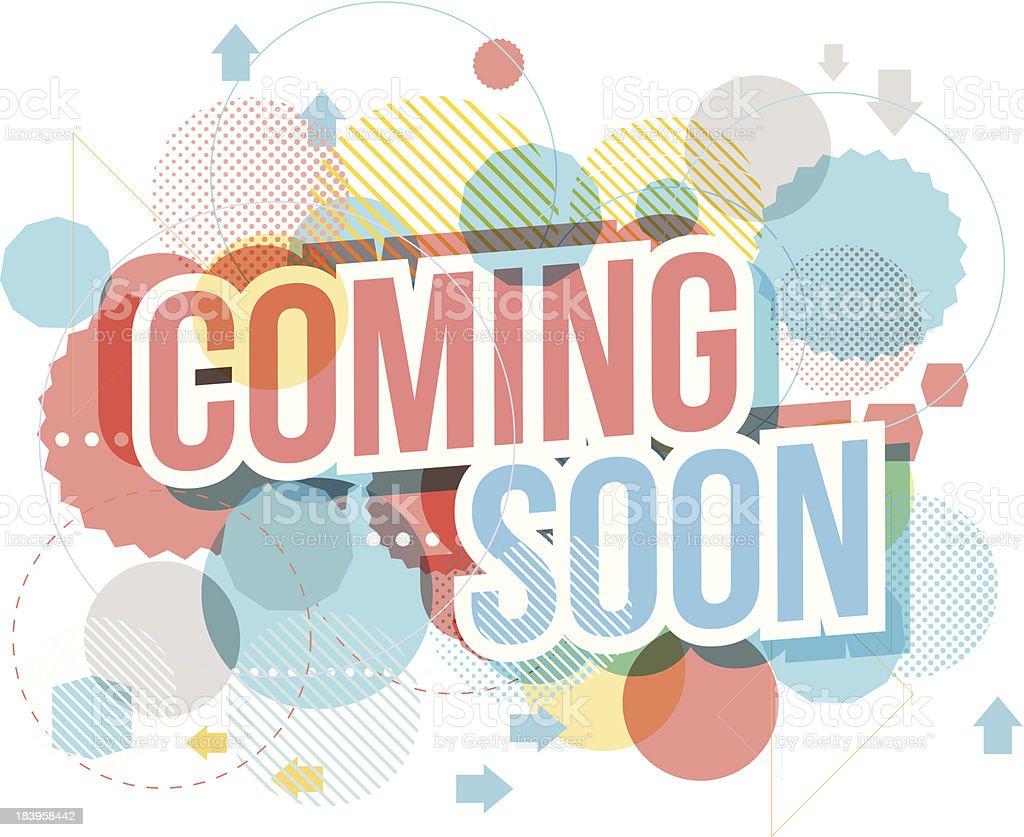 Coming soon vector art illustration