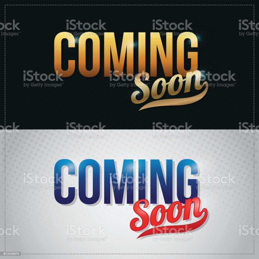 coming soon vector premium hand lettering illustration