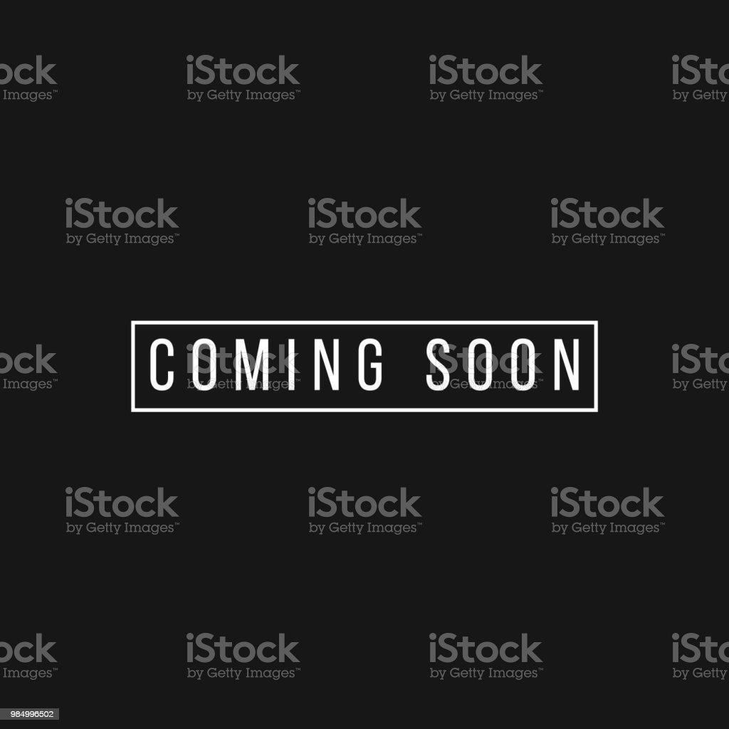 Coming Soon Vector Template Design